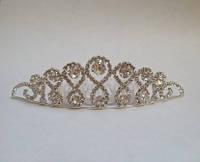 Діадема (корона, тіара) на гребінці, довжина 9,5 см, висота 2,8 см, фото 1