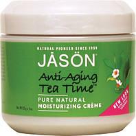 Антивозрастной увлажняющий крем для сухой кожи лица «Время чая» * Jason (США) *, фото 1