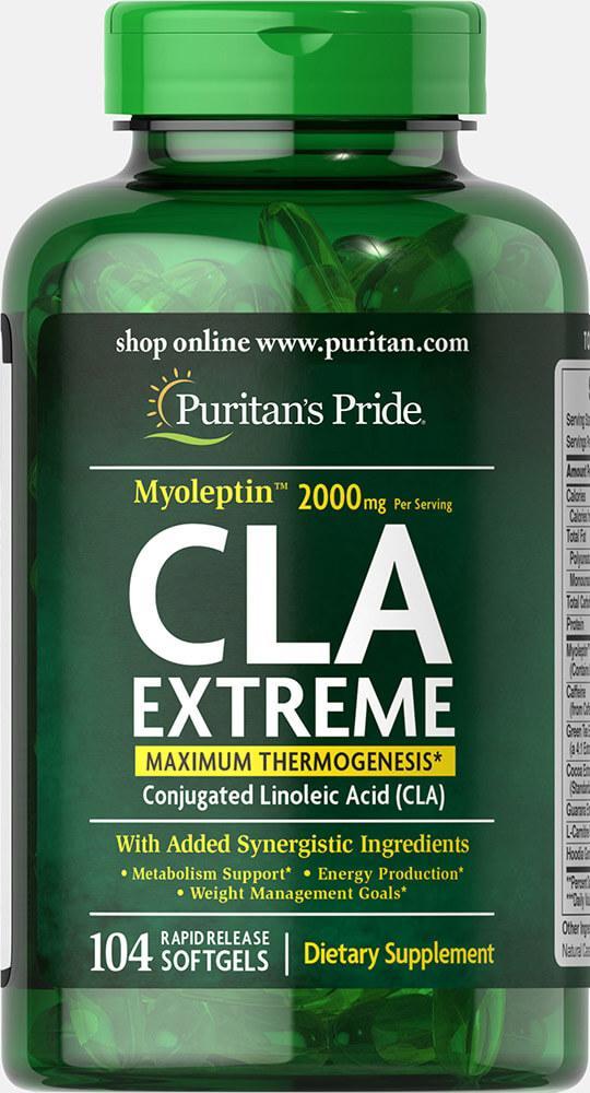 Puritan's Pride Myoleptin CLA Extreme, Кон'юговані лінолева кислота (104 капс.)