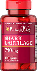Puritan's Pride Shark Cartilage 740 mg, Акулячий хрящ (100 капс.)