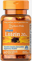 Puritan's Pride Lutigold Lutein 20 mg, Лютеин (60 капс.)