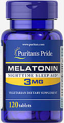 Puritan's Pride Melatonin 3 mg, Мелатонін (120 таб.)