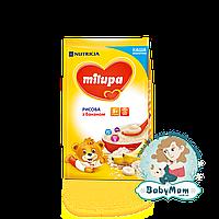 Каша молочная Milupa рисовая с бананом, 5+, 210гр