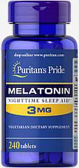 Puritan's Pride Melatonin 3 mg, Мелатонін (240 таб.)