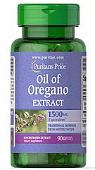 Puritan's Pride Oil of Oregano Extract 1500 mg, Масло орегано (90 капс.)