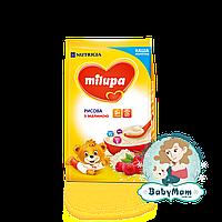Каша молочная Milupa рисовая с малиной, 5+, 210гр