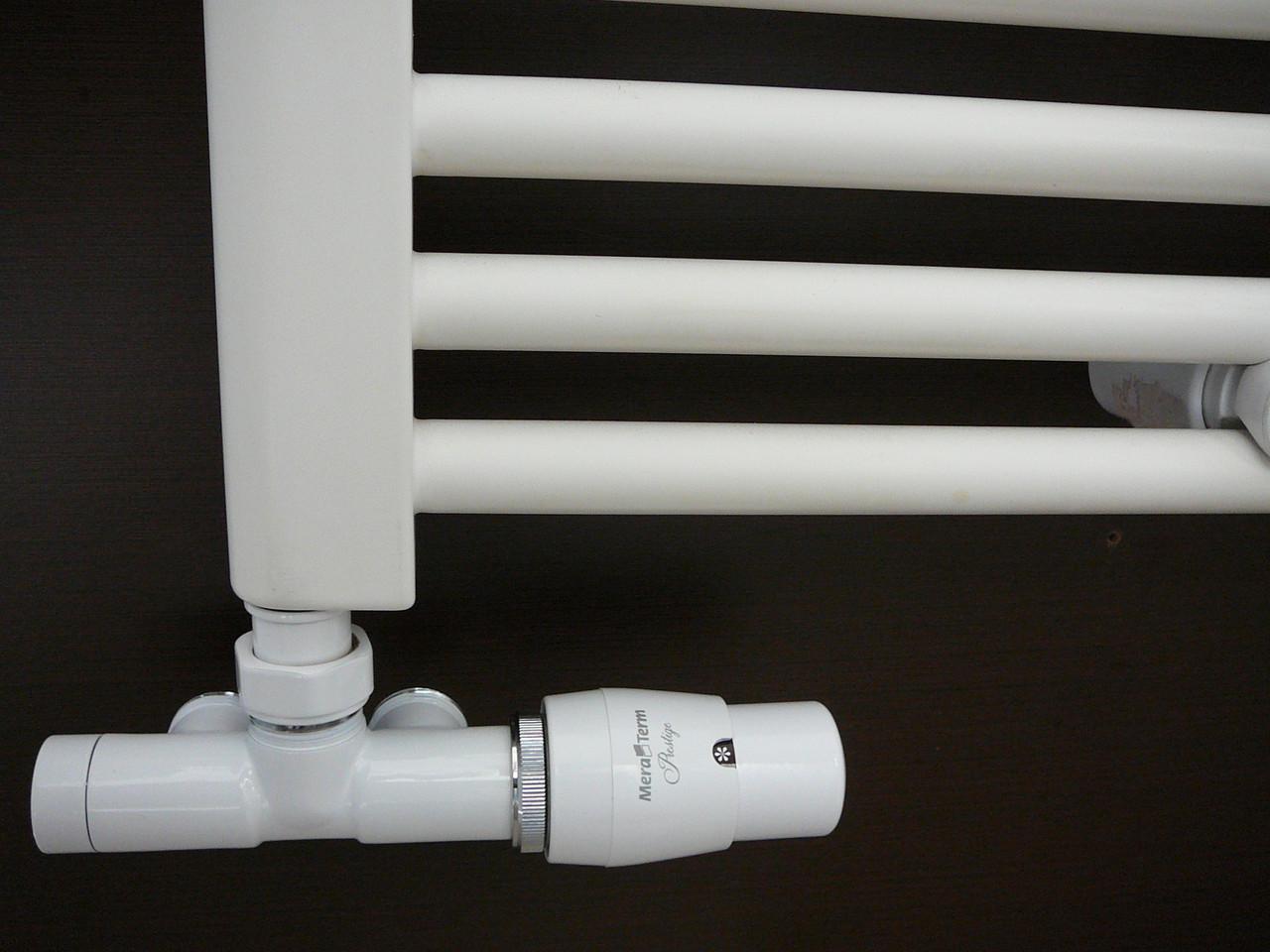 Вентиль термостатичний з занурювальний трубкою Unico 50 мм, білий (Vario Term)