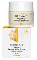 Интенсивный ночной крем с витамином С, пробиотиками и чаем ройбуш * Derma E (США) *
