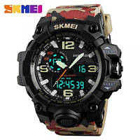 • Гарантия! Skmei(Скмей) 1155 HAMLET Army  Тактические мужские часы!
