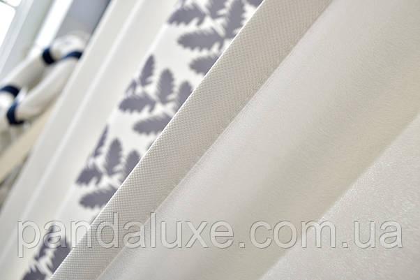 Красиві штори віконні сонцезахисні на тасьмі Папороть 185 х 265 2 шт., фото 2