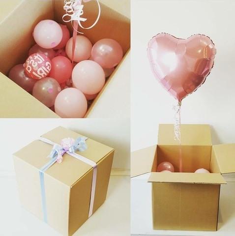 Коробка сюрприз с воздушными