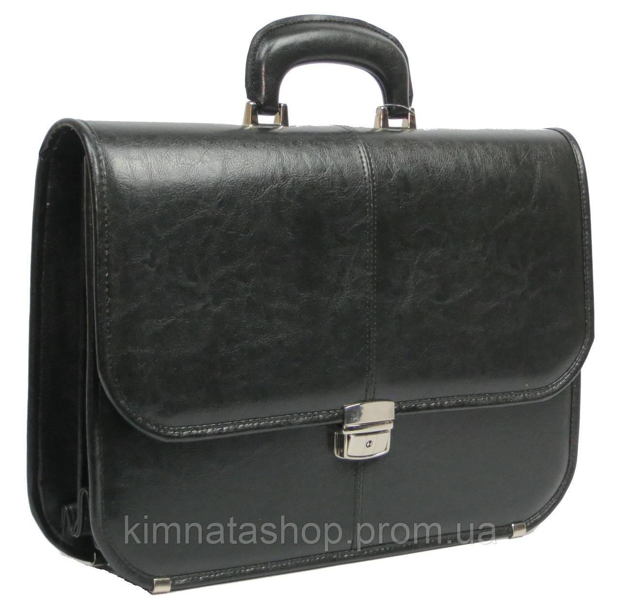 Чоловічий портфель з еко шкіри JPB Польща TE-40-66458 чорний