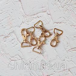Карабин сумочный KR07-3 (40 мм), цвет золото