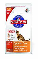 Корм для кошек Hills Science Plan Feline Adult Optimal Care with Lamb с ягнёнком 5 кг