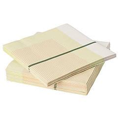 Набор салфеток IKEA LYSKRAFT 33x33 см 20 шт желтый белый 803.872.05