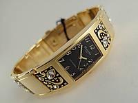 Часы женские - Планета - цвет корпуса золотой, циферблат черный