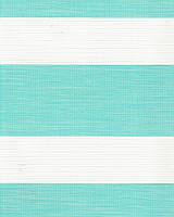 Тканевая ролета День-Ночь Олимпос 2094 бирюзовый, 40*170 см