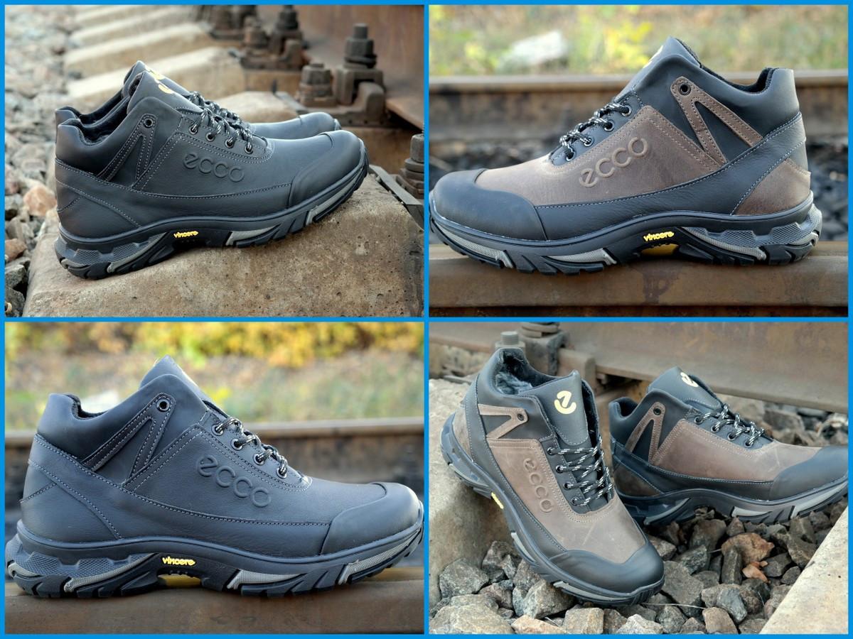 71954a4bb3c8a7 Мужские зимние ботинки кроссовки Ecco супер крепкие, на шерсти Топ продаж