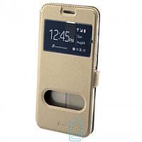 Чехол-книжка Nillkin 2 окна Samsung S6 Edge G925 золотистый