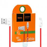 USB кабель Hoco UPM10 L-образный micro USB 1.2m красный