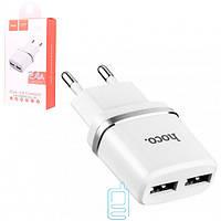 СЗУ-адаптер USB HOCO C12 (2 USB/2,4A) белый