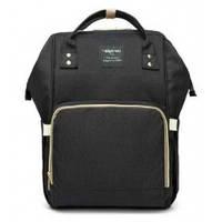 Многофункциональная сумка-рюкзак для мам Baby - MO  - мятная черный