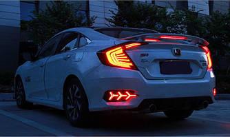 Диодные фонари Led оптика Honda Civic 10 2016+ черные