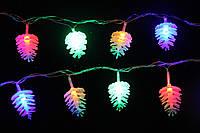 Новогодняя гирлянда с фигурками, шишки 28 LED