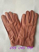 Кожаные мужские перчатки олень