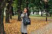 Женская кожаная сумка 24 черный флотар/наплак 012401-0301-01, фото 4