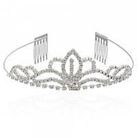 Діадема (корона, тіара) на обручі з гребінцями, довжина 11,5 см, висота 3,8 см