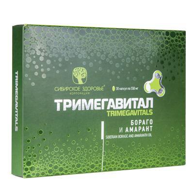 БАД Тримегавитал. Бораго и амарант (Trimegavitals. Siberian borage/amaranth)