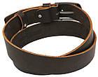 Мужской кожаный ремень под джинсы Skipper 1136-38 коричневый ДхШ: 129х3,8 см., фото 4
