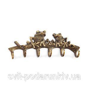 Вешалка настенная с крючками Лягушки - фото
