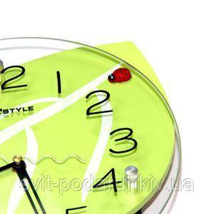 Стеклянные настенные часы - фото