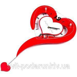 Настенные часы в виде Сердца- фото