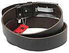 Мужской кожаный ремень под джинсы Skipper 1182-45 темно-коричневый ДхШ: 130х4,5 см., фото 4