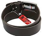 Мужской кожаный ремень под джинсы Skipper 1150-45 темно-коричневый ДхШ: 129х4,5 см., фото 3