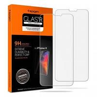 Защитное стекло Spigen для iPhone X, 1шт (057GL22686) + Бесплатная поклейка, фото 1