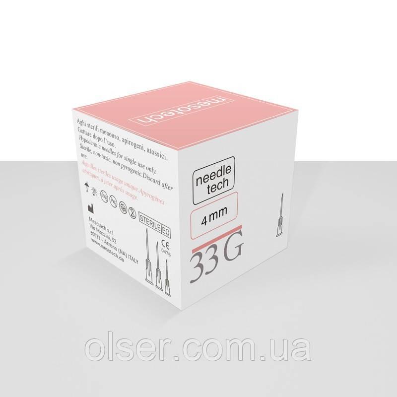 Иглы для мезотерапии Needletech 33G 4 mm