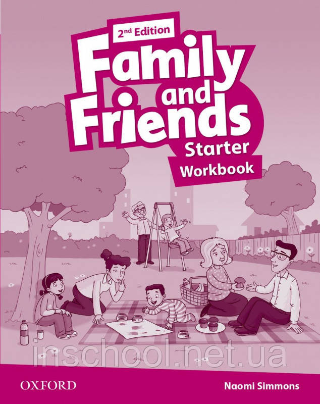 Family and Friends 2nd Edition Starter Workbook.   ISBN: 9780194808019