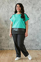 Donna-M Костюм в спортивном стиле ТЕРИ бирюзовый , фото 1