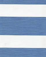 Тканевая ролета День-Ночь Олимпос 2093 синий, 40*170 см