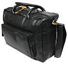 Мужская сумка-портфель кожаная Always Wild 0399-8662 черная 41х29х15 см., фото 6