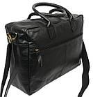 Мужская сумка-портфель кожаная Always Wild 0399-8662 черная 41х29х15 см., фото 7