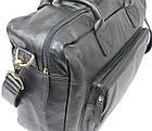 Мужская сумка-портфель кожаная Always Wild 0399-8662 черная 41х29х15 см., фото 8