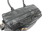 Мужская сумка-портфель кожаная Always Wild 0399-8662 черная 41х29х15 см., фото 9