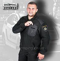 Кофта флисовая полиции черная POLICE. Толстовка тактическая патрульная