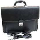Портфель зі штучної шкіри AMO Польща SST07 black, фото 5