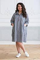 Donna-M Платье оверсайз в стиле кэжуал СЕЛЕНА темно-синее , фото 1